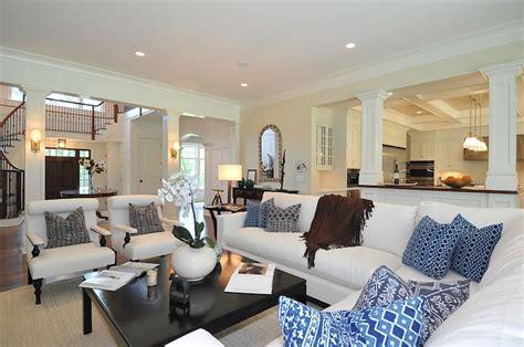 Slipcover For Sectional Open Floor Plan Traditional Living Room Jillian