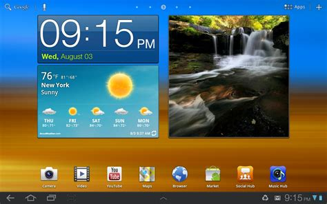 Touchwiz Home by What Does Samsung S Touchwiz Bring To The Galaxy Tab 10 1