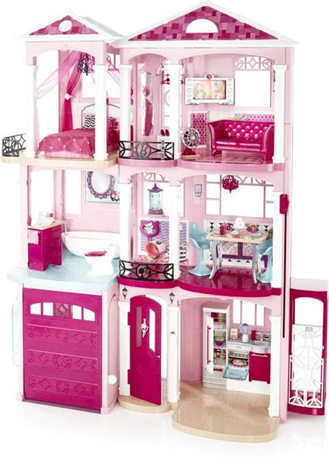 barbie dream house accessories barbie dream house pink doll town 3 story girls play furniture accessories ebay