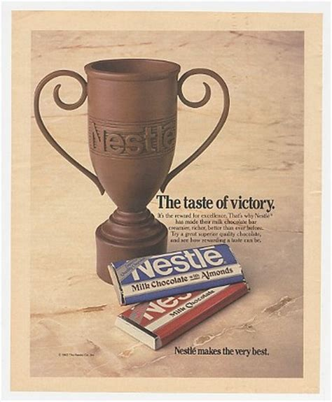 adspast com 1984 nestle milk chocolate bar trophy taste