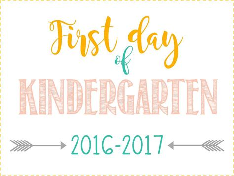 Day Of School Sign Free Printable