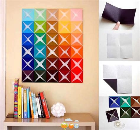 Easy Origami Decorations - origami wall decor diy projects