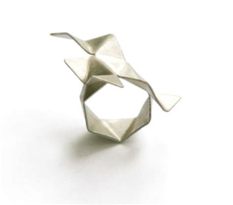Easy Origami Ring - simple modern jewelry by malene glintborg design milk