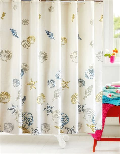 Seashell Shower Curtain by Seashell Shower Curtain Promotion Shop For Promotional