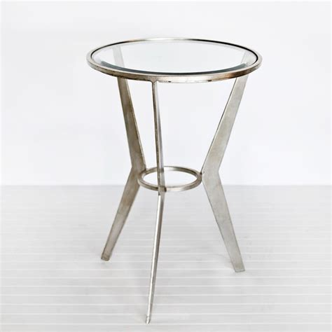 Silver Side Table Worlds Away Wilma Retro Silver Leaf Side Table Traditional Side Tables And End Tables