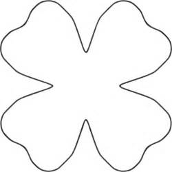 Petal Shape Outline by Four Petal Flower Clipart Best