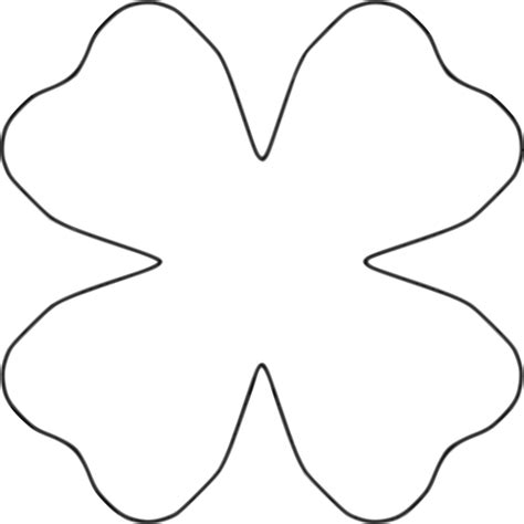 four petal flower clipart best