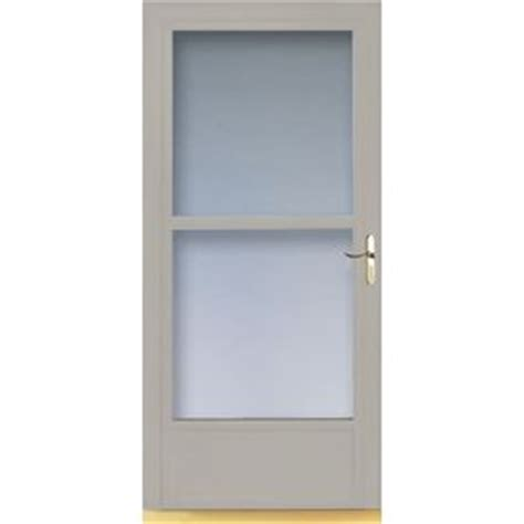 Larson Door Retractable Screen Replacement shop larson 36 in w almond retractable screen door at lowes