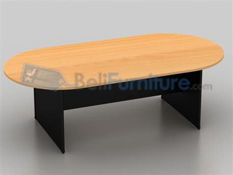 uno classic meja meeting oval 240 cm murah bergaransi dan lengkap belifurniture