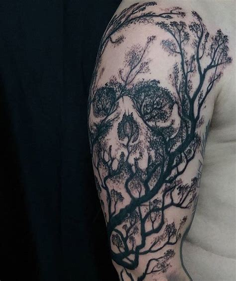 skull tree tattoo skeleton family tree www imgkid the image