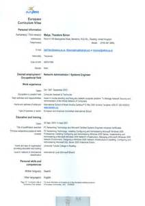 Curriculum Vitae Sample Format by Euro Cv And Academic Qualifications By Theodore Simon