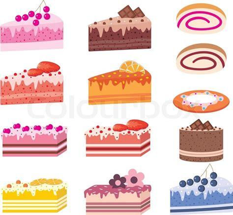 stück kuchen kuchen st 252 ck kuchen s 252 223 igkeiten vektorgrafik colourbox