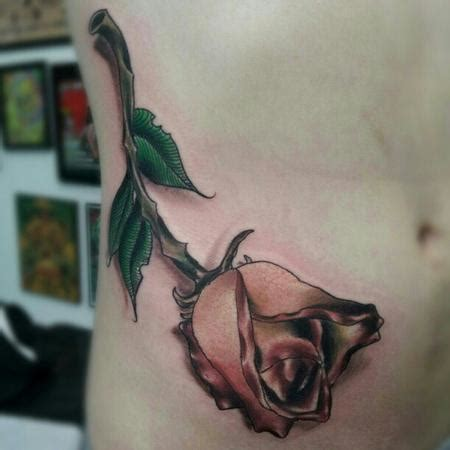 dying rose tattoo dying by travis broyles tattoonow