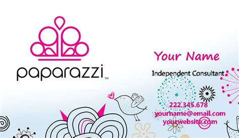 Free Paparazzi Business Cards