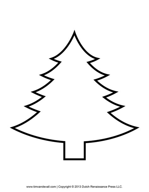 template of tree printable paper tree template and clip