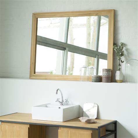 waschuntertisch holz miroir en teck style classique pour salle de bain tikamoon