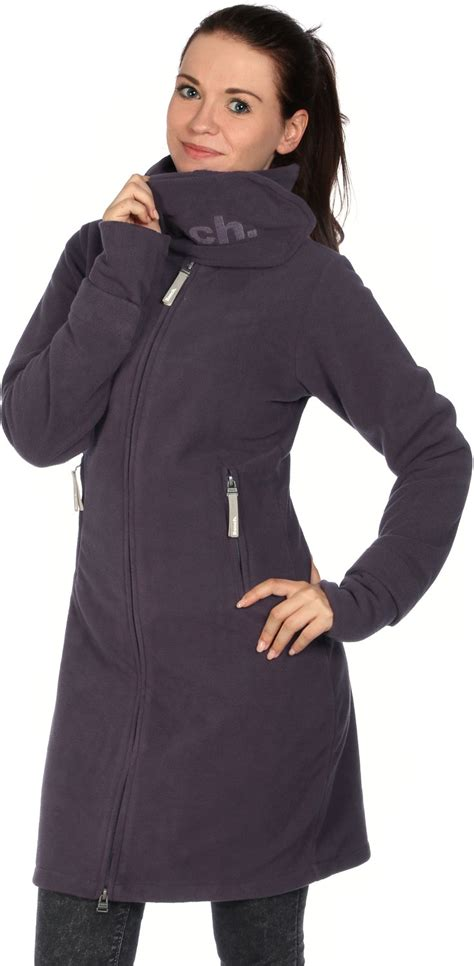 bench fleece jackets bench long funnelneck w fleece jacket purple