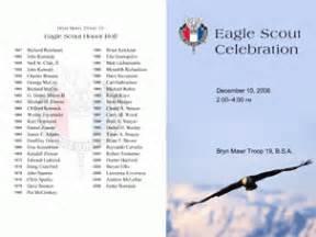 Eagle Scout Program Template by Eagle Scout Celebration Program On Behance