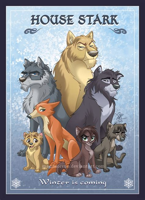 stark house game of thrones artist showcase mariana moreno s animated house portraits