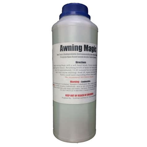 canvas awning cleaner kolorful kanvas awning magic is a cleaner for acrylic canvas