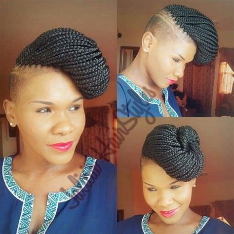 twists on twa with tapered sides tapered cut with box braids this is badass