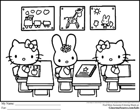 hello kitty at school coloring pages hellokitty 2 3 ginormasource kids