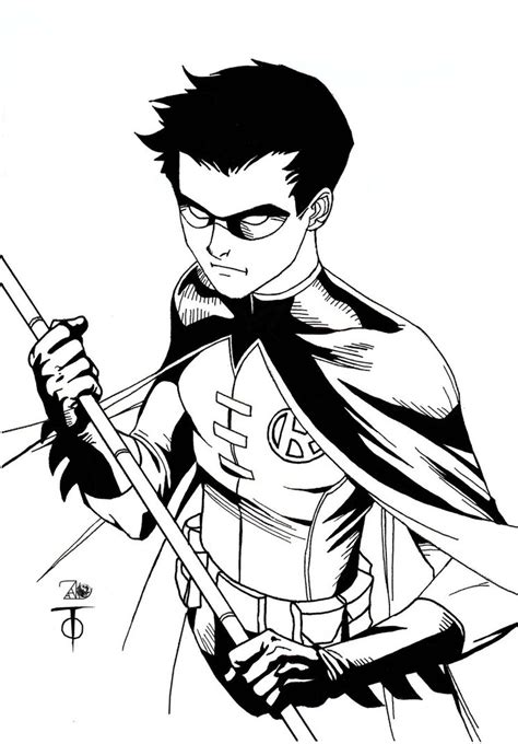 robin superhero coloring page robin sketch by marcus to by newerastudios on deviantart