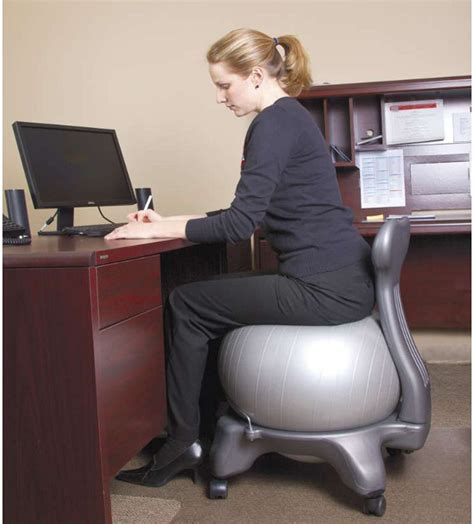yoga ball desk chair exercise ball turned office chair incredible things