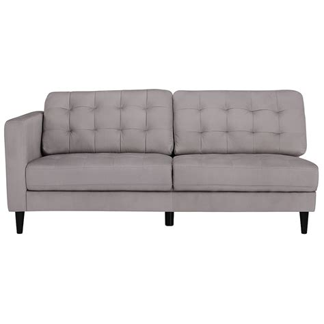 Grey Microfiber Sectional With Chaise City Furniture Shae Light Gray Microfiber Right Chaise Sectional