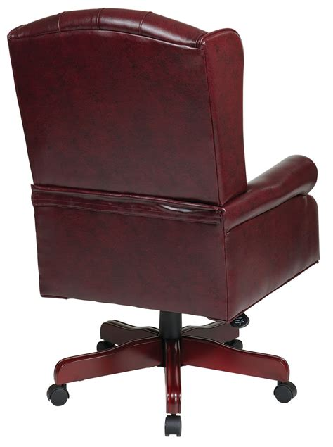 wingback traditional chair burgundy high wing back swivel lounge oxblood burgundy vinyl