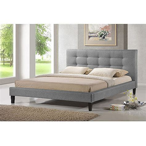 quincy linen queen platform bed gray walmart com