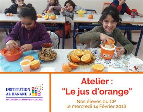 jus dorange 1 initiation 8467850310 f 233 vrier 2018 groupe scolaire al hanane
