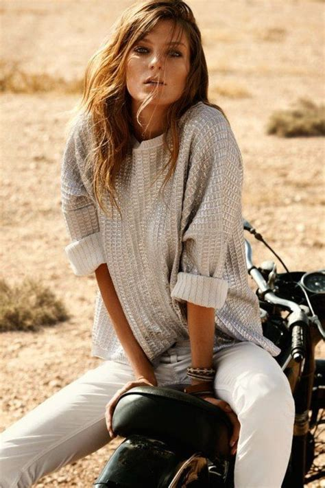 does daria werbowy has long layers in her haircut daria werbowy blanc hair and makeup pinterest