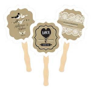 Personalized Fan Wedding Favors by Personalized Vintage Wedding Fan Favors Paddle Style