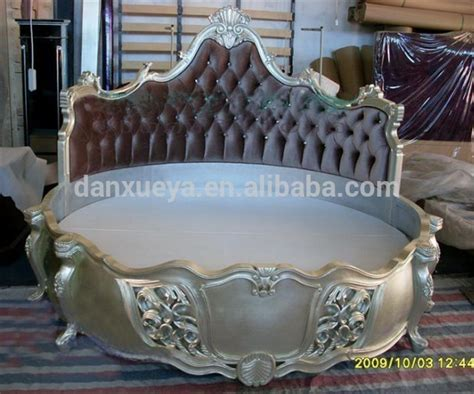 hot sale luxury king size round bed with pillow on alibaba wooden carved round bed antique bedroom king size