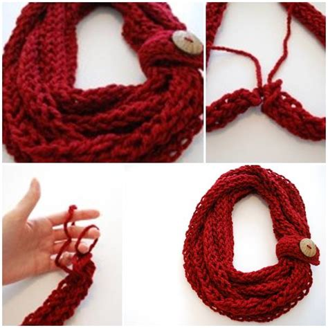 finger knitting scarf diy crochet scarf pictures photos and images for