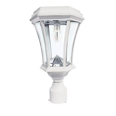 white solar post lights hton bay 3 head white outdoor post light hb7017p 06