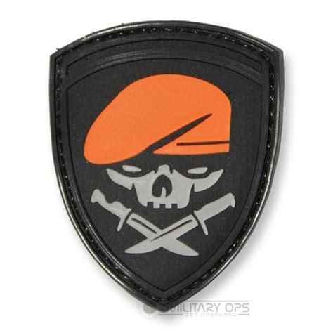 Patch Rubber Patch Korpolairud Pol Air Higt Quality vinyl morale patch velcro panel rubber us army grey orange black skull beret ebay