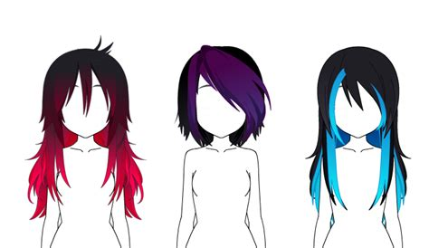 EMO EDITION Hair Exports by Omichiwon on DeviantArt
