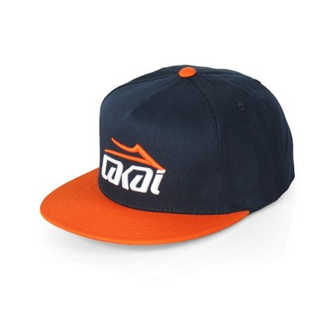 Snapback Austri lakai essential snapback cap navy orange sportitude