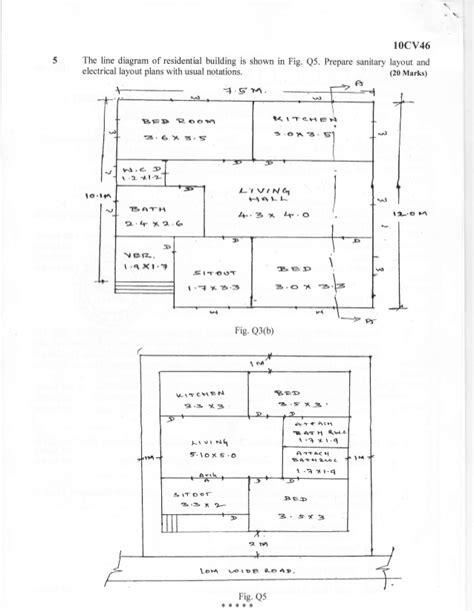 layout of building lines civil engineering building plans