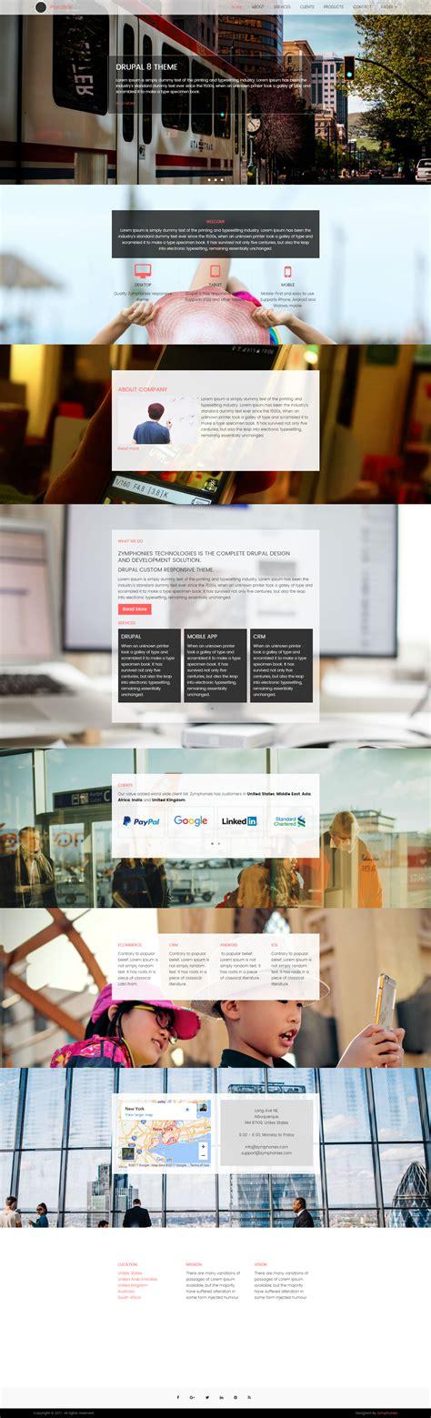 theme image drupal 8 drupal 8 parallax theme drupal free themes