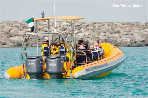 small yellow boat sightseeing yellow boat in abu dhabi vootours