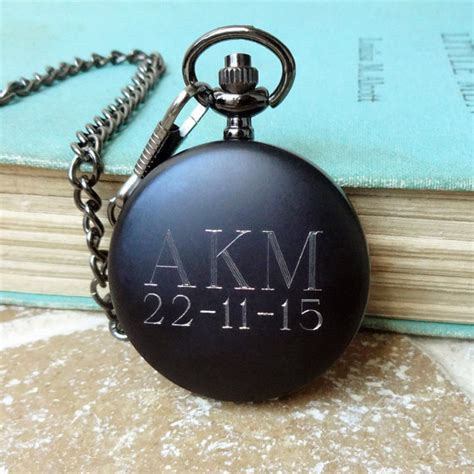 best man gifts personalized men s pocket watch modern black pocket watch