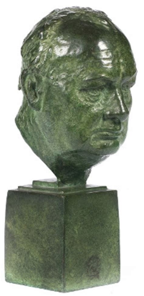 armchair to 5k winston churchill 163 5k bust and 163 1 5k chair go to auction