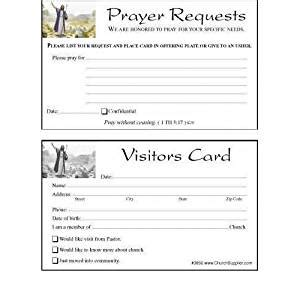 Church Visitor S Card And Prayer Request Cards Bookmarks 100 Cards Amazon Ca Office Products Church Visitor Card Template Doc