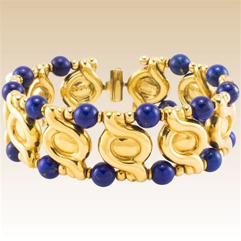 Anting Lapis 18k 10 18k lapis lazulli bracelet estate bangle the jewelry collectors ruby