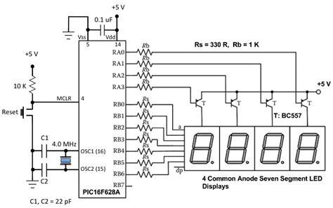 led resistor calculator 7 segment led clock out of single 3mm leds page 1