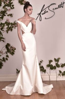 Folded Neck Fluted Dress wedding dresses fall 2016 collection