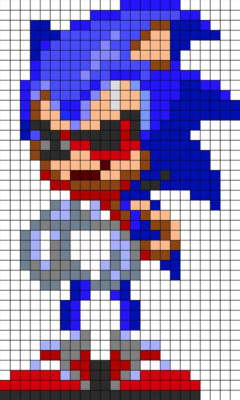 pattern notes exle sonic exe play with me perler bead pattern bead sprites